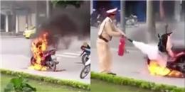 Clip: Xin CSGT tha lỗi không được, người đàn ông mang bật lửa đốt xe