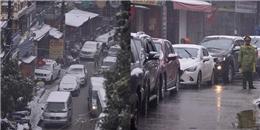 Sa Pa ùn tắc đường tới 10km vì đoàn xe lên ngắm tuyết