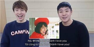 Hot boy  Hàn  thổ lộ  tình cảm với  cô giáo Khánh
