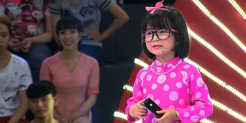 Hết hồn  với thí sinh 5 tuổi nói Việt Hương là bò