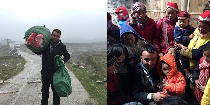 Cảm động hình ảnh nhiếp ảnh gia người Pháp ủng hộ trẻ em Sa pa