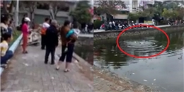 Hàng trăm người vô cảm đứng nhìn nam thanh niên 9x chết dưới hồ