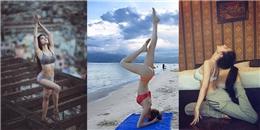 Ngẩn ngơ trước thân hình tuyệt mỹ của mỹ nhân Việt khi tập yoga