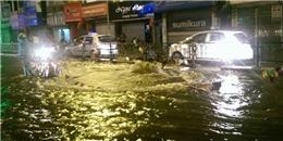 Trời không mưa, Hà Nội bất ngờ bị ngập nước lênh láng