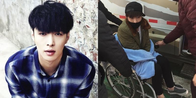Lay (EXO) bất ngờ ngồi xe lăn sang Hàn Quốc chữa bệnh