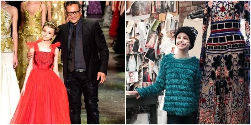 Cô bé ung thư sải bước trên sàn diễn Tuần lễ thời trang New York