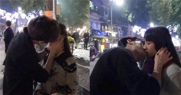 Trổ tài ảo thuật giữa phố, thanh niên tha hồ 'hôn' bạn gái