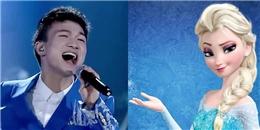 Ca sĩ nam hát 'Let it go' bằng giọng nữ khiến khán giả sửng sốt