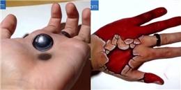 Tranh vẽ 3D trên bàn tay ảo không tưởng