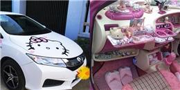 Cô gái Thanh Hóa và chiếc xe hơi 'Hello Kitty' lạ mắt
