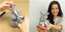 Tự tay làm vớ bunny trang trí và hút ẩm cực tiện dụng
