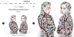 Không cần sang trời Tây, Kelbin Lei vẫn chễm chệ xuất hiện trên Vogue