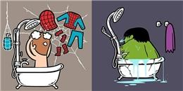 Bất ngờ chuyện... phòng tắm của các siêu anh hùng