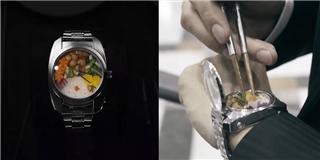 Thêm một phát minh kì lạ của Nhật Bản: Đồng hồ... cơm hộp
