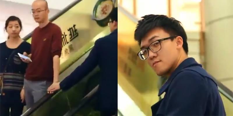 """Thử """"ve vãn"""" trai trên thang máy, nam thanh niên nhận cái kết đắng"""