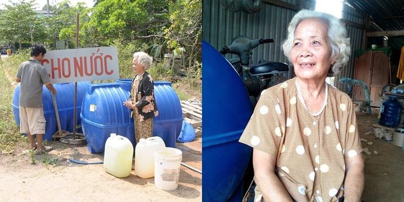 Câu chuyện đượm tình của bà cụ cho nước ngọt giữa vùng ngập mặn