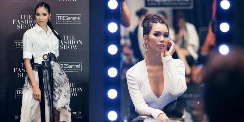 Hà Anh và Phạm Hương đọ tóc 'fearless' cực chất tại The Fashion Show