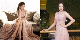 Đọ váy đính ngọc trai màu hồng của Hồ Ngọc Hà, Kỳ Duyên