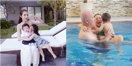 """""""Ngất lịm"""" khoảnh khắc ngọt ngào của gia đình Thu Minh, Elly Trần"""
