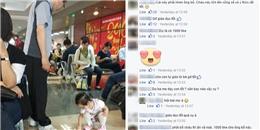 Hình ảnh bé gái 3 tuổi tự lau nước đổ ra sàn bay gây sốt trên mạng