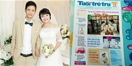 Thiệp cưới mô phỏng tờ báo cực độc của cặp đôi Nghệ An