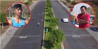 Choáng với kết quả không tưởng cuộc đua giữa người và xe ô tô
