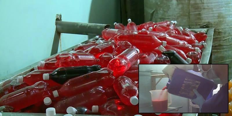 Kinh hoàng công nghệ sản xuất nước ngọt bẩn