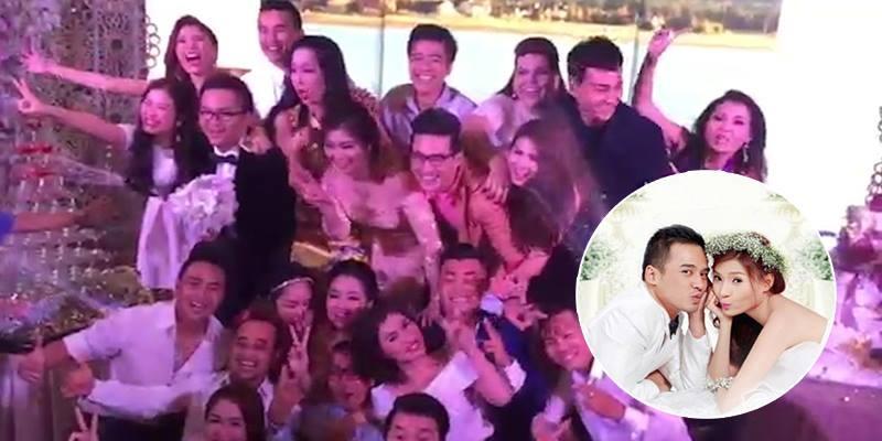 """Dàn sao Việt """"quẩy tung nóc"""" tại đám cưới Lương Thế Thành - Thúy Diễm"""
