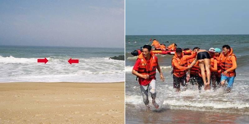 Báo động nạn lọt ao xoáy khi tắm biển dịp nghỉ lễ