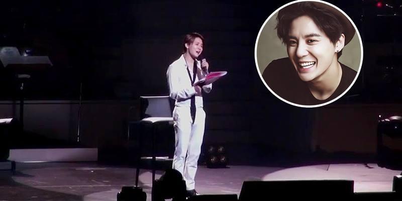 """Junsu bất ngờ hát nhạc phim """"Hậu Duệ Mặt Trời"""" trong concert"""