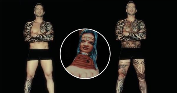 Choáng ngợp với công nghệ biểu diễn hình xăm trên da người