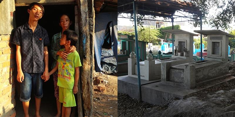 Xót xa cuộc sống hẩm hiu của 4 mẹ con ở nghĩa trang Bình Hưng Hoà