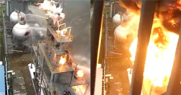 Bạn sẽ không bao giờ muốn chứng kiến cảnh cháy nổ như thế này