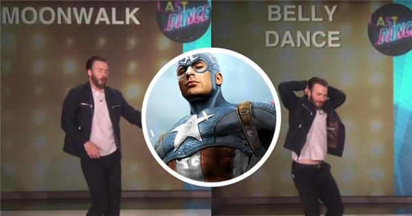 'Captain America' Chris Evans khoe tài lẻ vũ đạo 'đốn tim' chị em