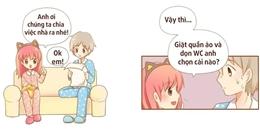 Cười ra nước mắt với cách phân việc nhà 'bá đạo' của cô bạn gái