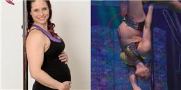 'Lác mắt' nhìn bà bầu 7 tháng tự tin trình diễn múa cột điêu luyện