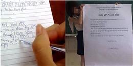 Sinh viên Thủy Lợi viết đơn xin nghỉ học bằng giấy A0