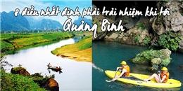 8 trải nghiệm bạn nhất định phải thử khi du lịch Quảng Bình