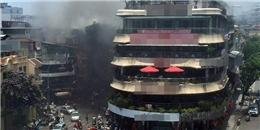 Cháy lớn, khói bao trùm 'hàm cá mập' ở trung tâm Hà Nội