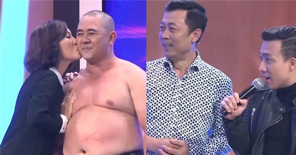 Hồng Đào bất ngờ chủ động hôn 'trai lạ' trên sóng truyền hình
