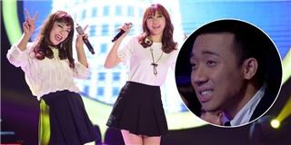Trấn Thành  tái mặt  say mê ngắm  phiên bản lỗi  của Hari Won