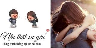 Nếu thực sự yêu thì đừng dễ dàng buông tay nhau