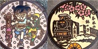 Nghệ thuật trang trí nắp cống chỉ có tại Nhật Bản