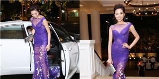 Diện trang phục mỏng tang, Hoa hậu Kỳ Duyên lộ vùng nhạy cảm