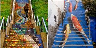 Người lười nhất cũng tự nguyện leo bộ khi thấy những cầu thang này