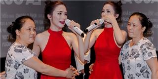 Hòa Minzy bật khóc nức nở khi nhắc đến bố mẹ