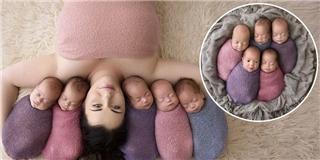 Dân mạng thích thú với bộ ảnh siêu đáng yêu của 5 em bé sinh 5
