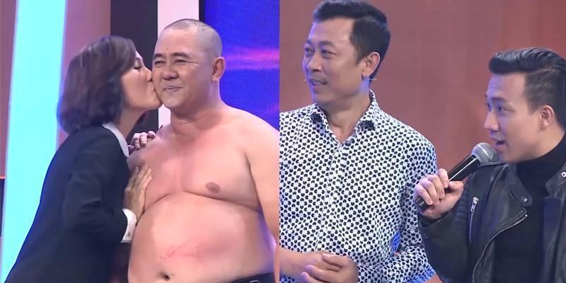 """Hồng Đào bất ngờ chủ động hôn """"trai lạ"""" trên sóng truyền hình"""