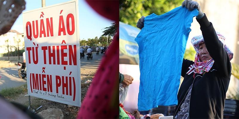"""""""Quầy quần áo miễn phí"""" góp thêm cho Sài Gòn một vẻ đẹp hào hiệp"""