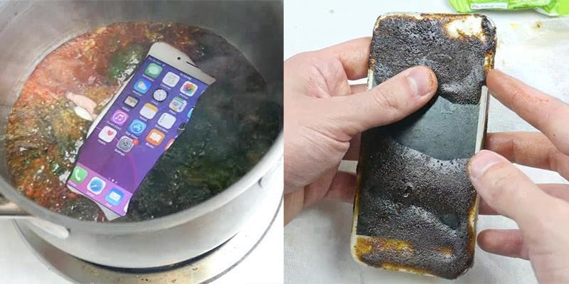 Thử mang iPhone đi nấu chung với kẹo và cái kết bất ngờ